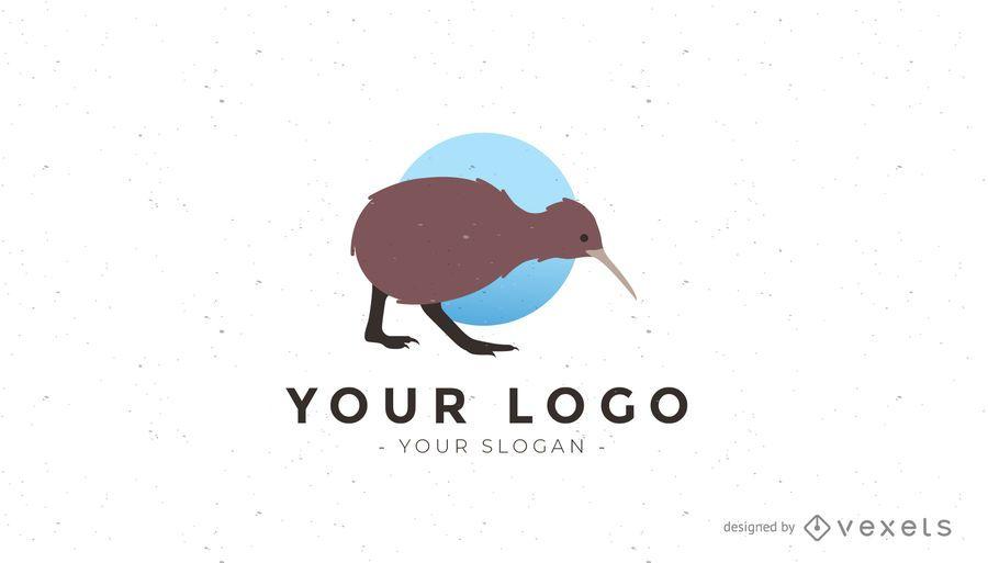 Logotipo del pájaro kiwi