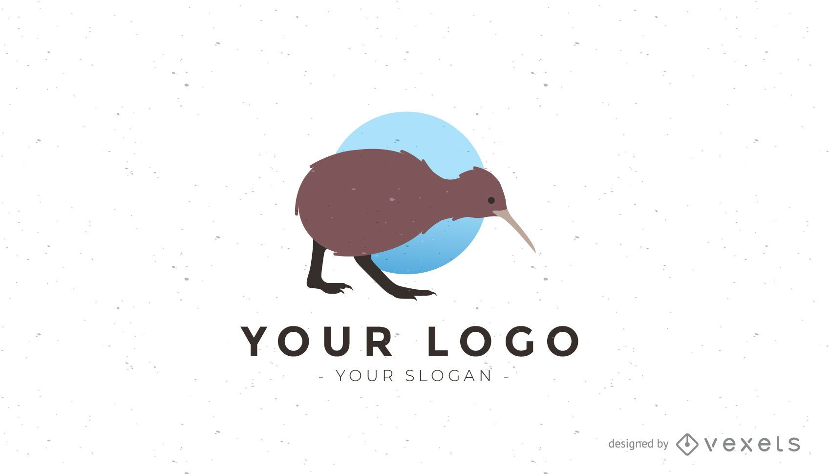Logotipo de pájaro kiwi