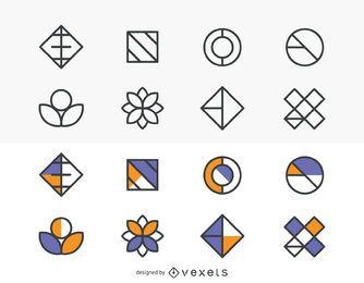 Conjunto de elementos de diseño plantilla