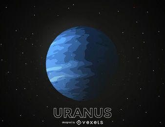 Ilustración del planeta Urano