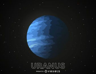 Uranus planet illustration