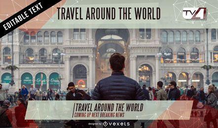 Gráficos de tela de tv de show de viagem