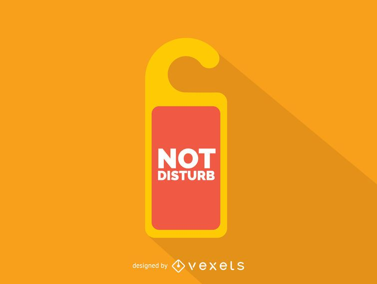 Not disturb room sign icon
