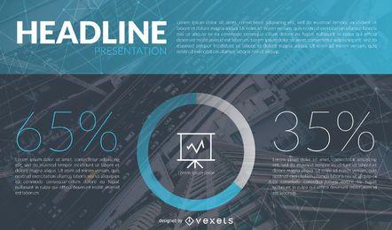 Porcentaje de presentación de la diapositiva de la gráfica.