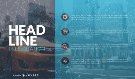 Plantilla de diapositiva de información de presentación