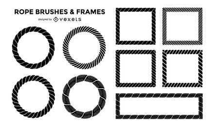 Rope brushes and frames set