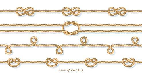 Conjunto de elementos cuerdas y nudos.