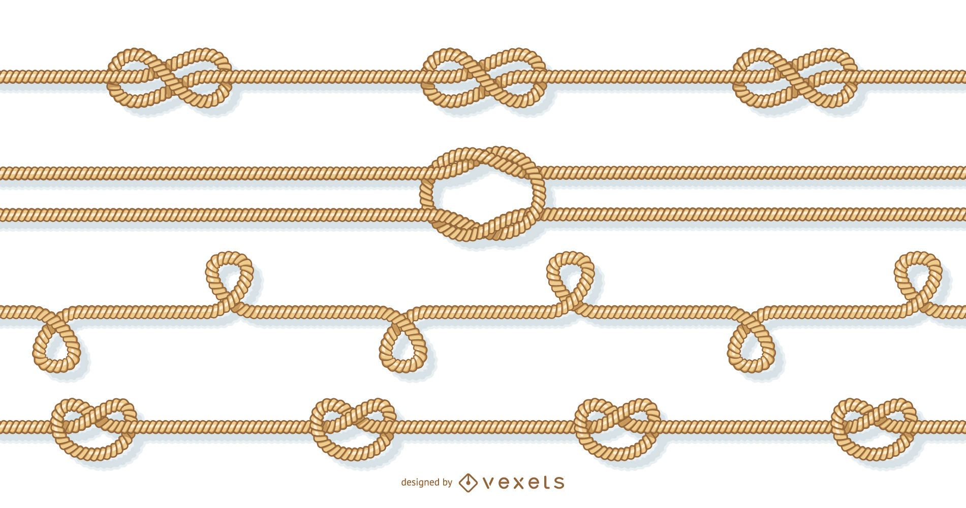 Ropes and knots elements set