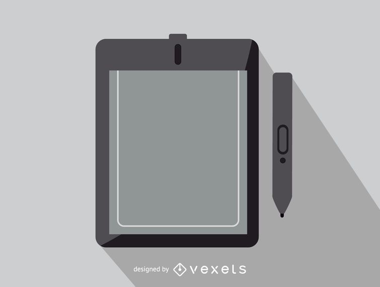 Tableta gráfica icono de oficina