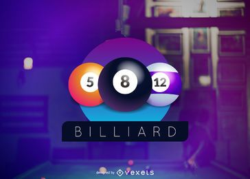 Billiard club logo design