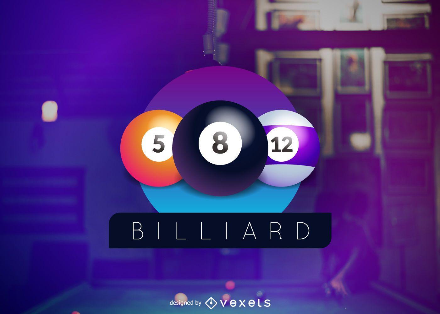 Billiard club logo design