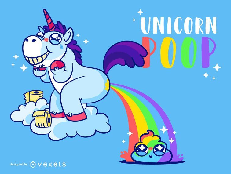 Rainbow Cute Unicorn Poop