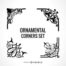 Conjunto de esquinas ornamentales