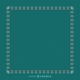 Eleganter blauer dekorativer Rahmen