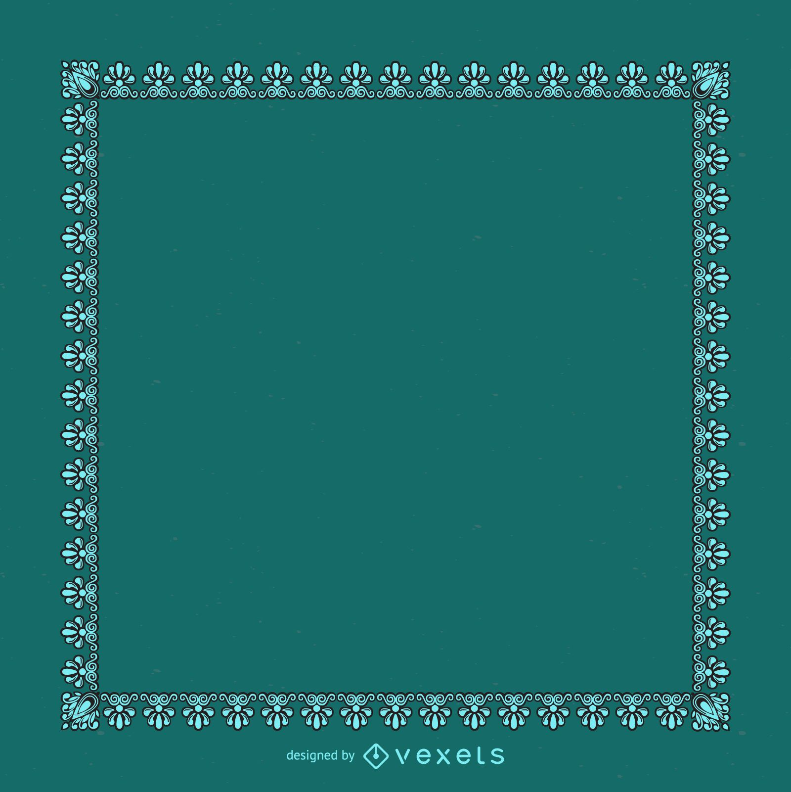 Elegant blue decorative frame