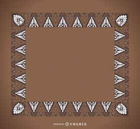 Dreieck Ornamentrahmen