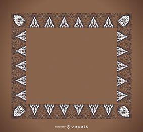 Quadro de ornamentos de tri�ngulo