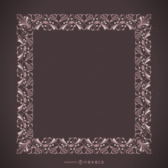 Beautiful pink ornamental frame