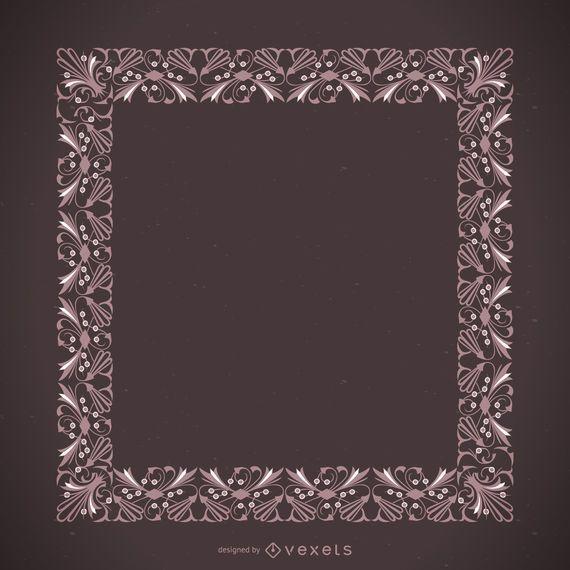 Hermoso marco ornamental rosa
