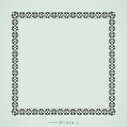 Moldura ornamental preta