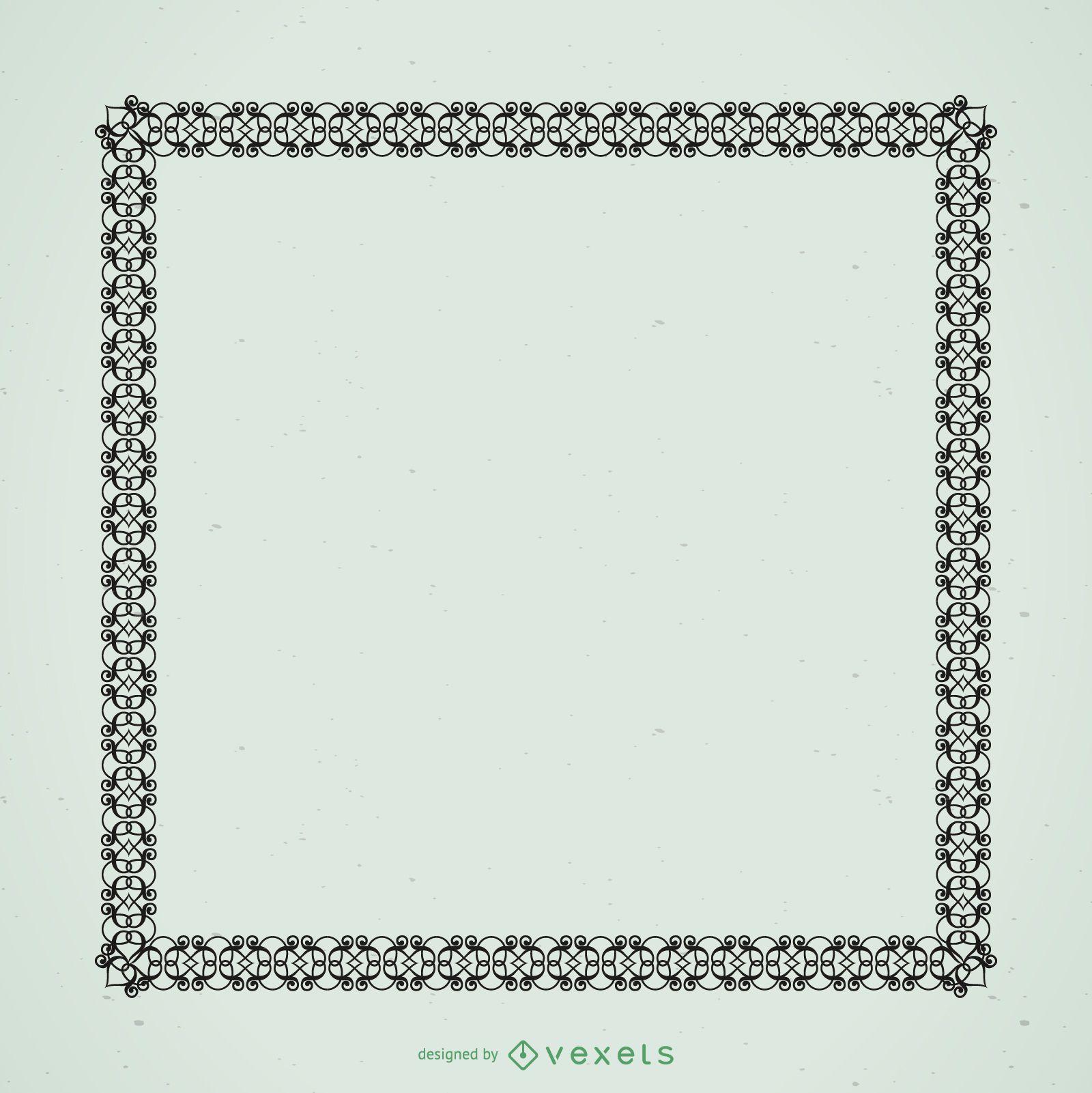 Black ornamental frame