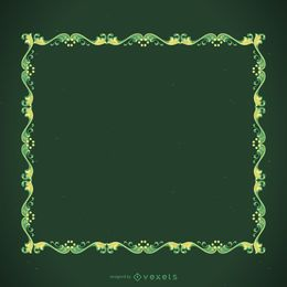 Marco decorativo verde
