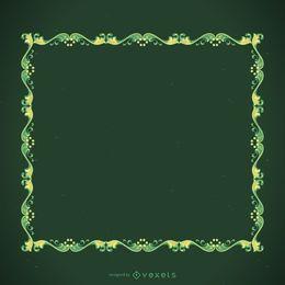 Moldura decorativa verde