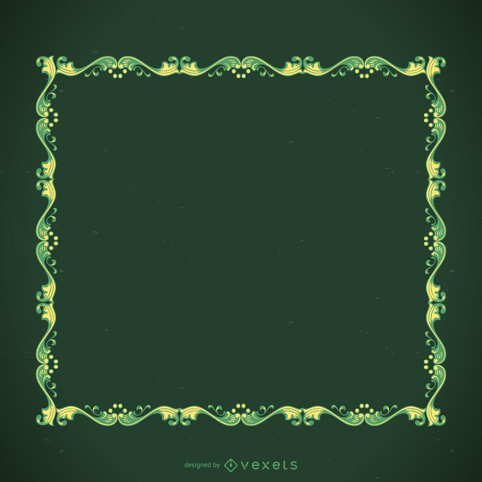 Green decorative frame
