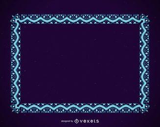 Blauer Rahmen mit Ornamenten