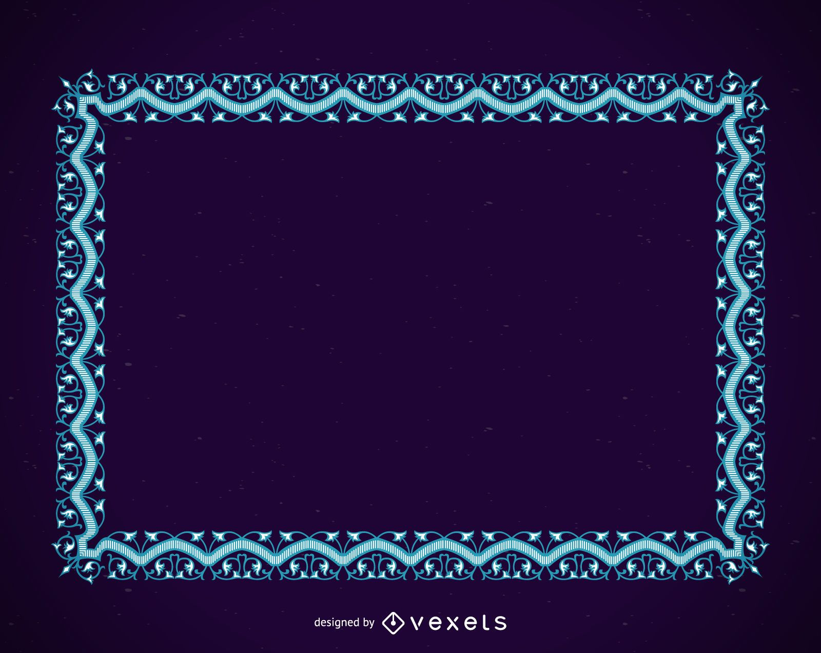 Blue frame with ornaments