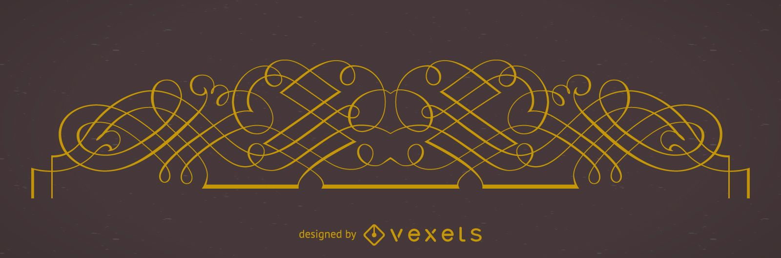 Elegant ornamental frame element