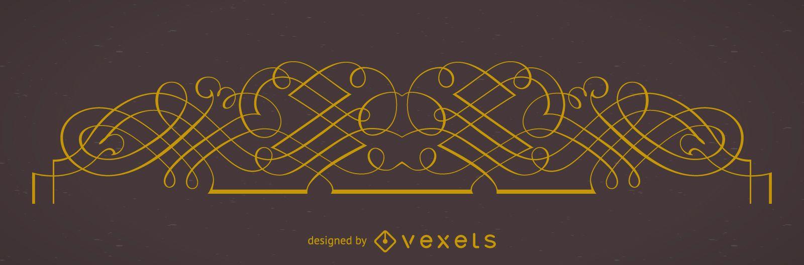 Elemento de marco ornamental elegante