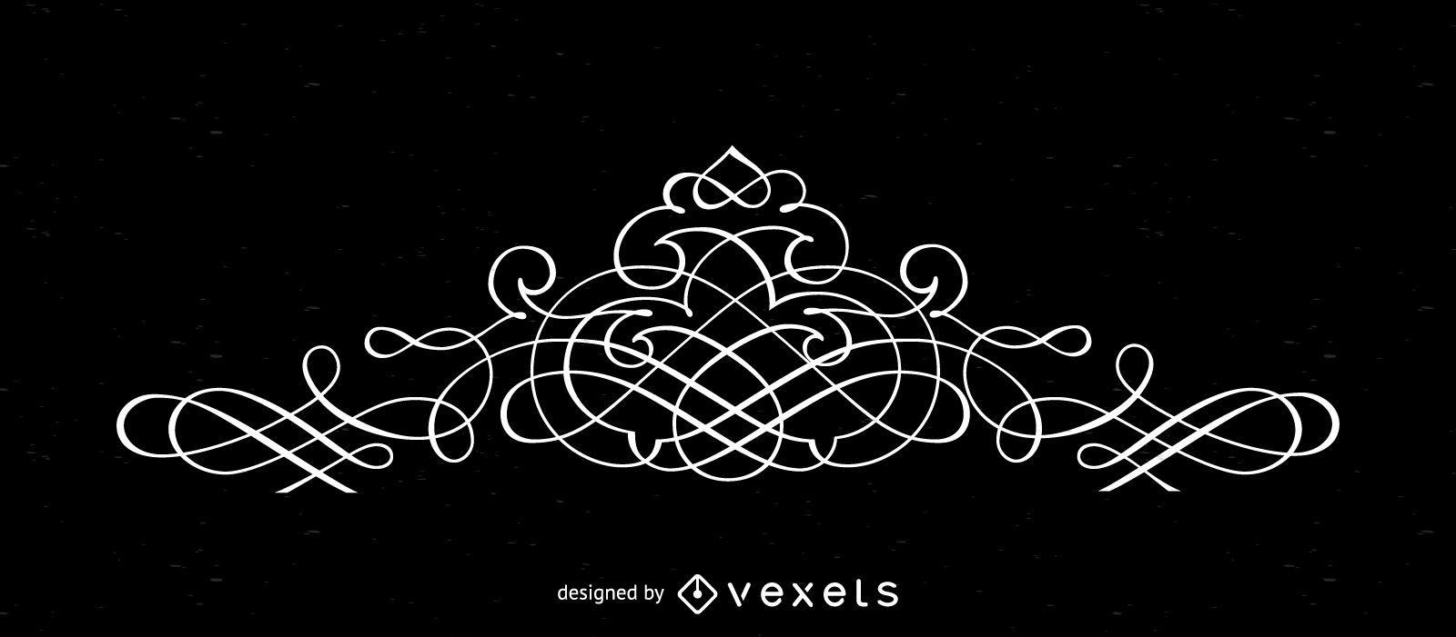 Elegante elemento de marco superior - Descargar vector