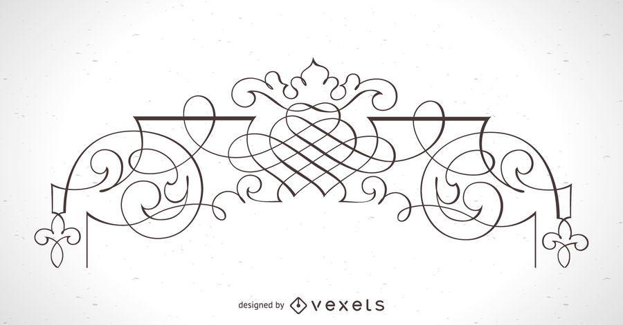 Elemento de marco ornamental detallado