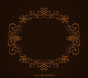 Elegante marco ornamental circular