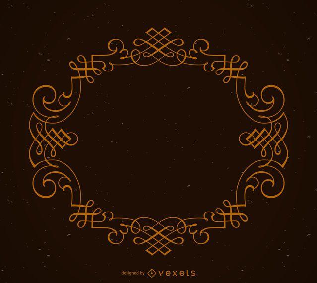 Eleganter kreisförmiger Ornamentrahmen