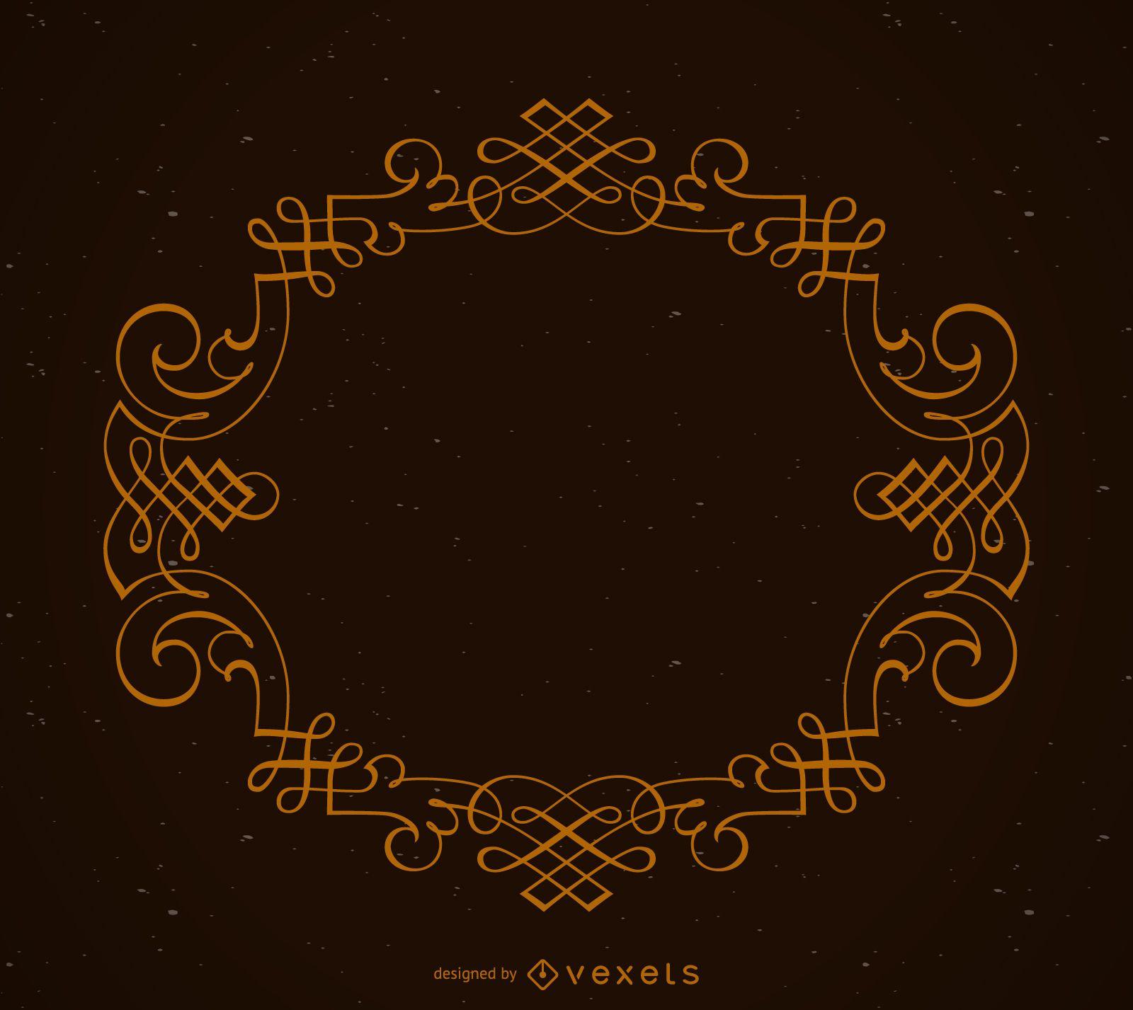 Elegant circular ornamental frame