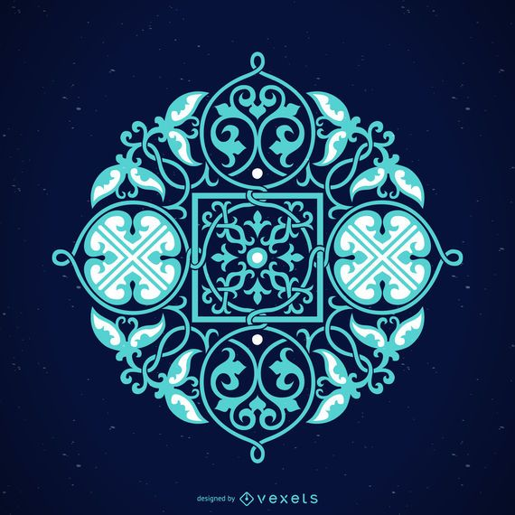 Elemento ornamental decorativo