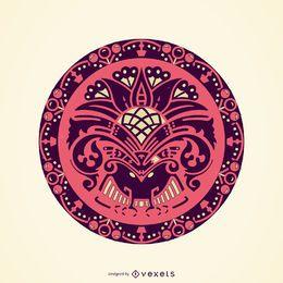 Ornamento decorativo de círculo