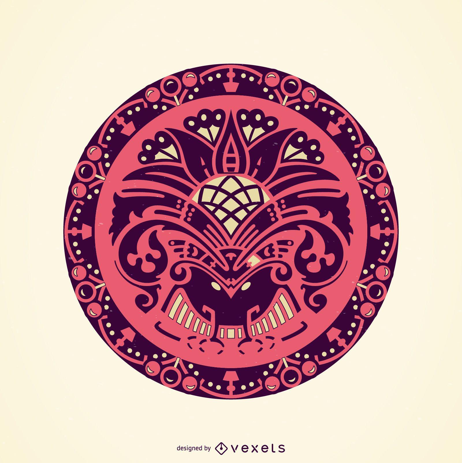 Adorno decorativo circular