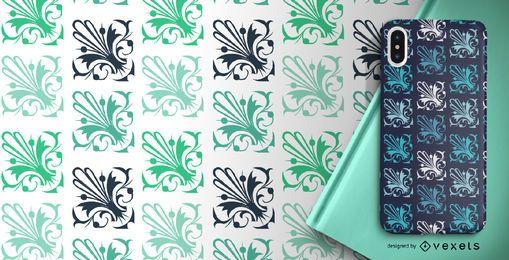 Elegante patrón ornamental verde