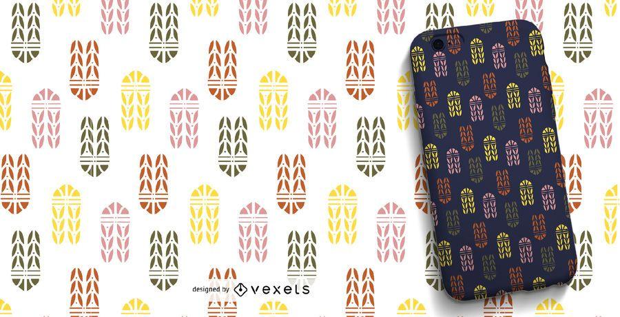 Patrón ornamental de colores