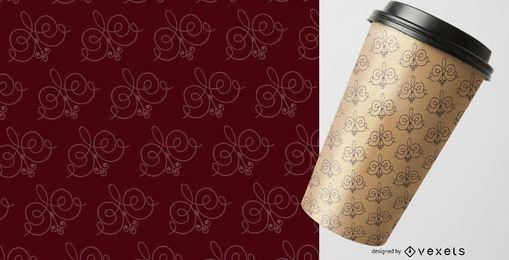 Elegante patrón de ornamentos detallados
