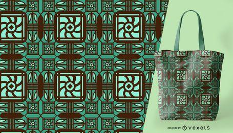 Padrão ornamental verde detalhado