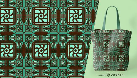 Patrón ornamental verde detallado