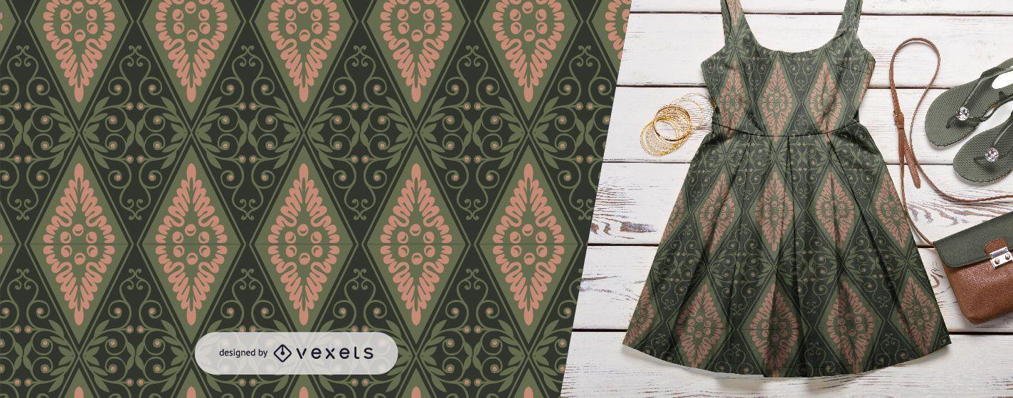 Detailed rhombus ornaments pattern