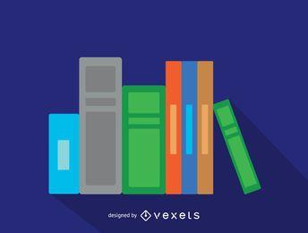 Icono de libros y archivos de Office