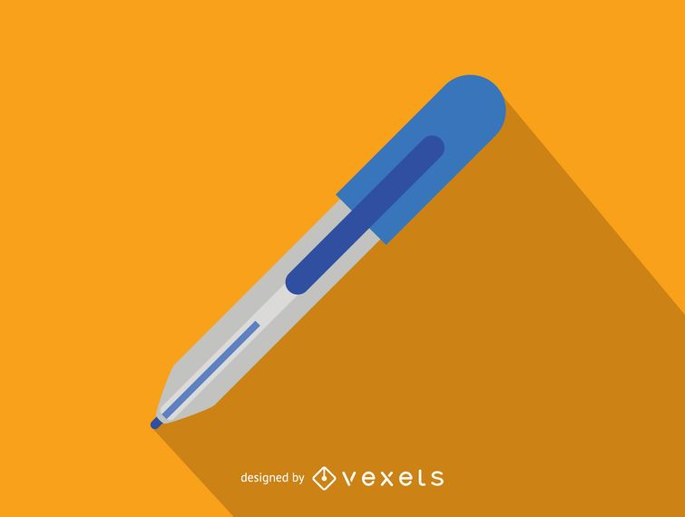 Einfache Büro-Ikone des Stiftes