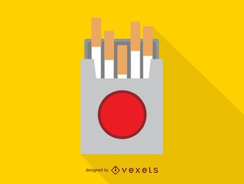 Icono de caja de cigarrillo simple