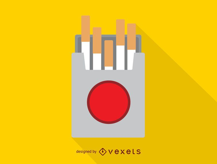 Cigarette box simple icon